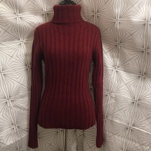 Burberry Red Knitted Turtle Neck